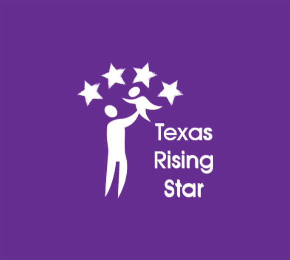Highest level recognition in Texas Rising Star